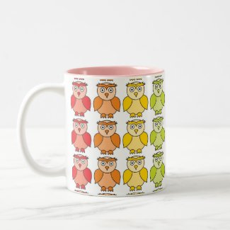 Mug - Cute Rainbow Owl Pattern mug