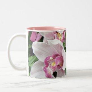 MUG -Pink Cymbidium Orchids mug