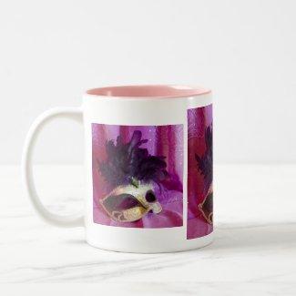Mug - Purple Masquerade Mask triptych mug