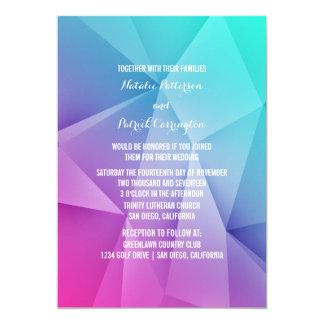 Multicolor Jewel Tones Wedding Invitation