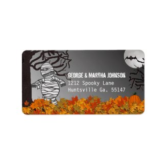 Mummy: Halloween Address Stickers Personalized Address Labels