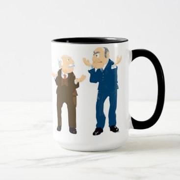 Muppets Sattler And Waldorf looking at each other Mug