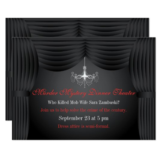 Murder Mystery Dinner Theater Party Invitation Zazzle