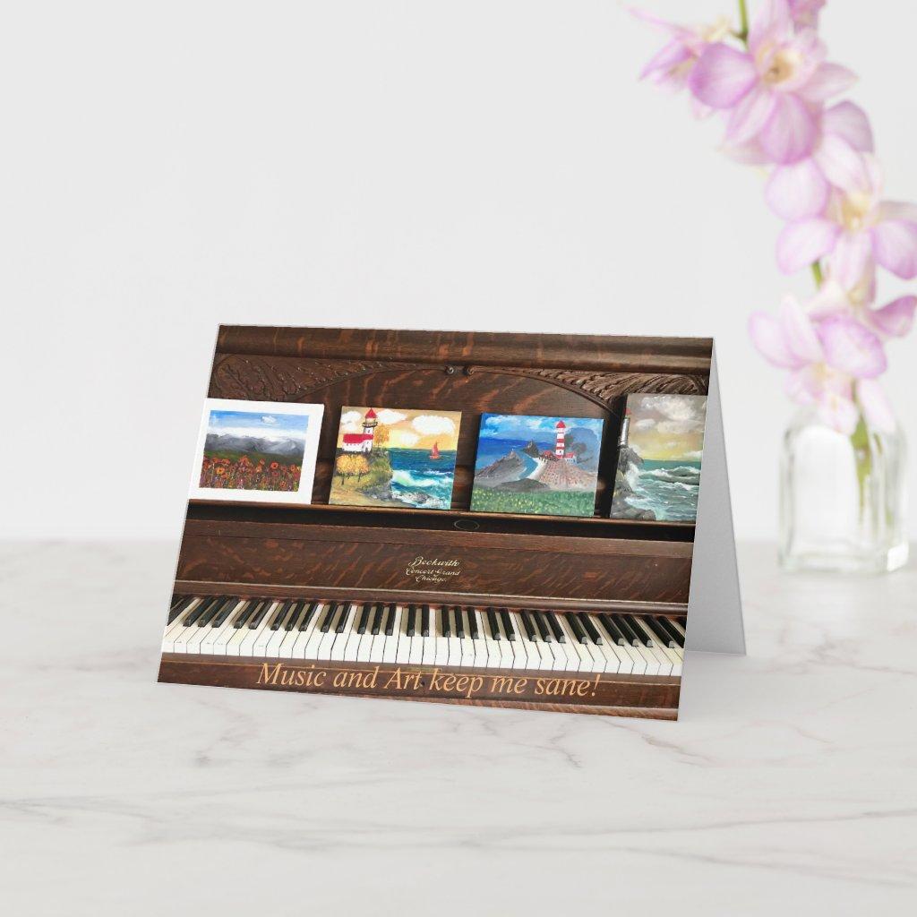 Music and Art keep me sane Card