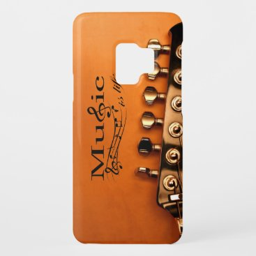 Music is Life with Guitar Machine Head Case-Mate Samsung Galaxy S9 Case