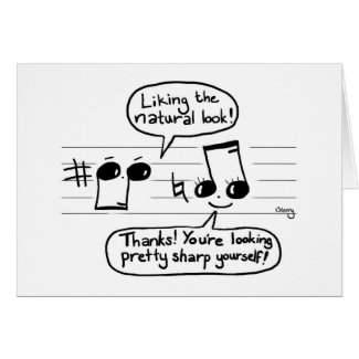 Musical Joke Cartoon Card