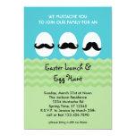 Mustache Eggs Easter Lunch Invitation