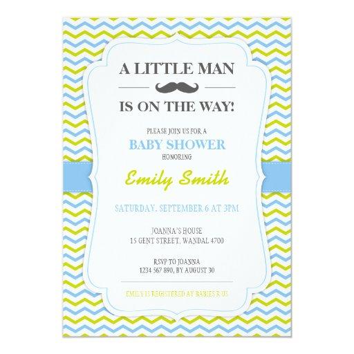 Little Man Baby Shower Invitation Zazzle
