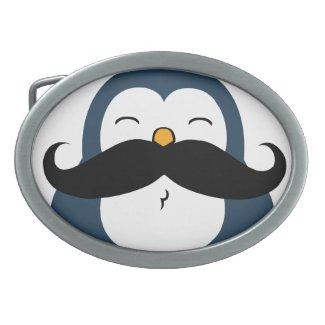 Mustache Penguin Belt Buckle