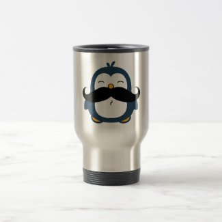 Mustache Penguin Mugs