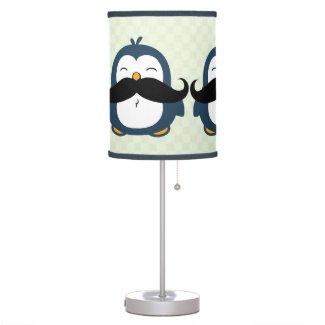 Mustache Penguin Table Lamp
