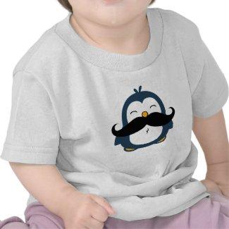 Mustache Penguin Tshirts