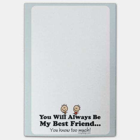 My Best Friend Post-it Notes