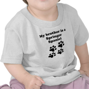 My Brother Is A Springer Spaniel Tshirt