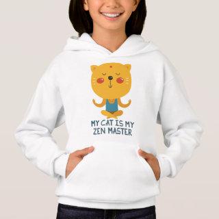 My Cat is My Zen Master Design Hoodie