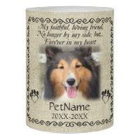 My Faithful Friend Pet Sympathy Custom Burlap Flameless Candle