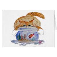 My Fishbowl, Meows Tiger Kitten Card