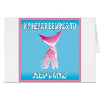 My Heart Belongs To Neptune Greeting Card