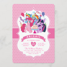 my little pony invitations zazzle