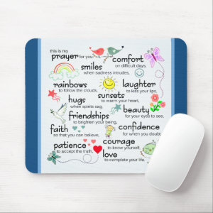 My Prayer For You Blessings Mouse Pad