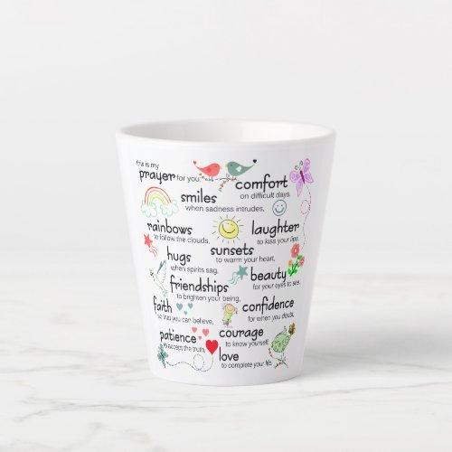 My Prayer For You Blessings Small Latte Mug