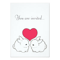 My Sweet Bunny Love Vengeance Wedding Invitation
