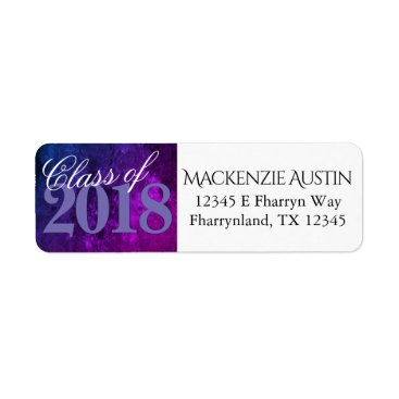Mystic-Topaz Ombre | Blue Purple Pink Graduation Label