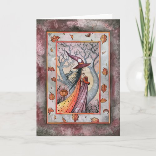 Mystic Witch Halloween Card