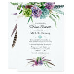 Mystical Succulents Virtual Baby or Bridal Shower Invitation