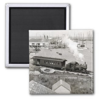 Nantucket Railroad Refrigerator Magnet