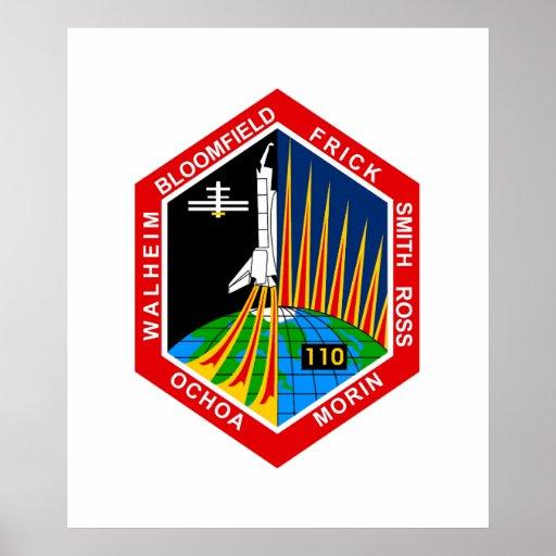 NASA STS110 Shuttle Mission Patch Print Zazzle