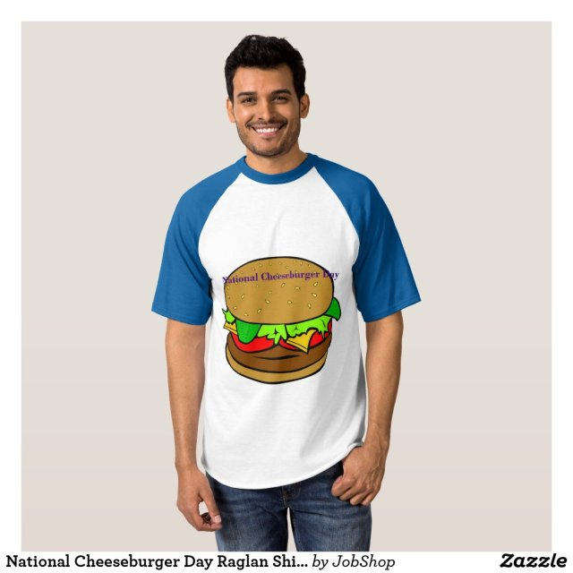National Cheeseburger Day Raglan Shirt