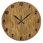 Natural Woodgrain Look Clock