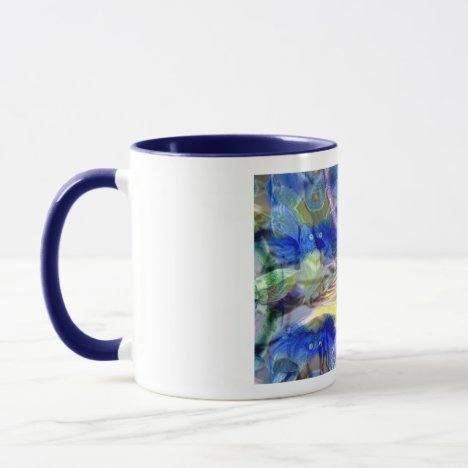 Nature Reflections I - Gold & Blue Birds Mug
