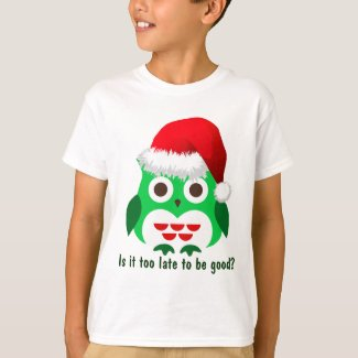 Naughty Christmas Owl T-Shirt