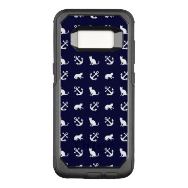 Nautical anchor and cats OtterBox commuter samsung galaxy s8 case