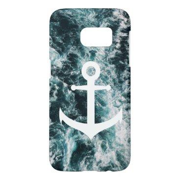 Nautical anchor on ocean photo background samsung galaxy s7 case