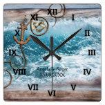 Nautical Anchor Wedding Clock