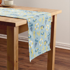 Nautical Aquatic Design Short Table Runner