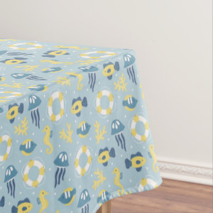 Nautical Aquatic Design Tablecloth