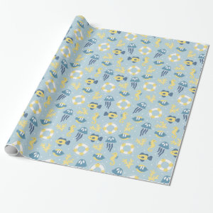 Nautical Aquatic Design Wrapping Paper
