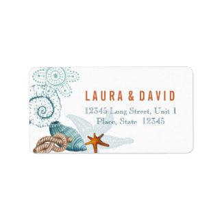 Nautical Beach Wedding   Address Labels