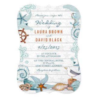 Nautical Beach   Wedding Invitation