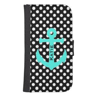 Nautical Polka Dot Samsung Galaxy S4 Wallet Case