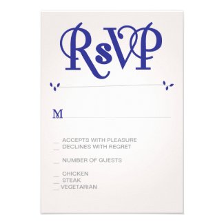 Navy Ampersand RSVP Personalized Invitations