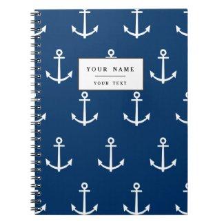 Navy Blue Anchors Pattern 1