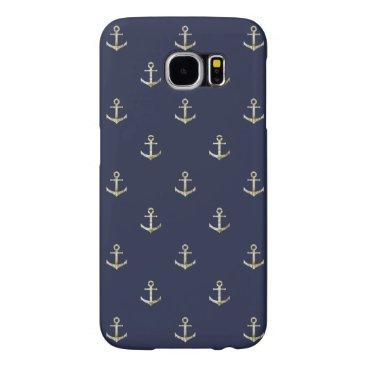 Navy blue nautical anchor samsung galaxy s6 case