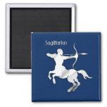 Navy Blue Sagittarius Zodiac Magnet