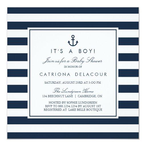 Nautical Baby Boy Shower Ideas