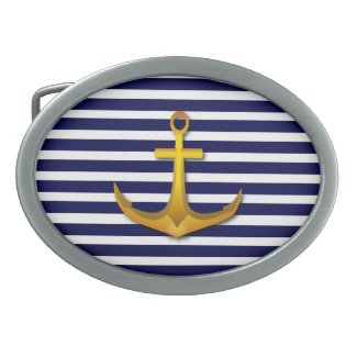 Navy Stripes Belt Buckle